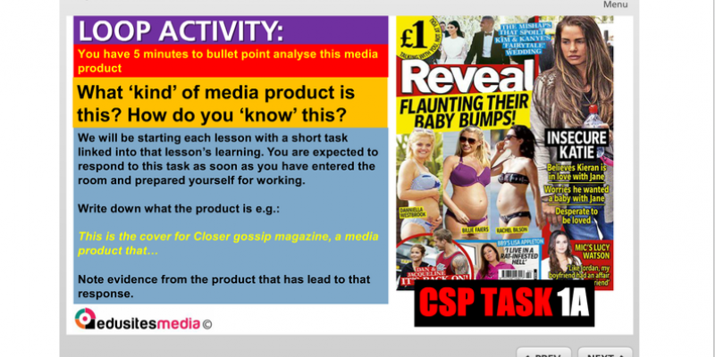 CSP Blog Number 3 Magazine Analysis (Media Representation)